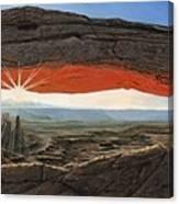 Dawn At Mesa Arch Canyonlands Utah Canvas Print
