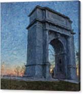 Dawn At The Arch Canvas Print