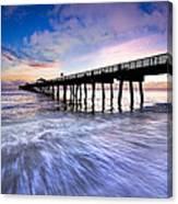 Dawn At The Juno Beach Pier Canvas Print