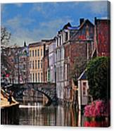 Dawn In Bruges Canvas Print