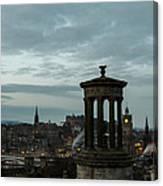 Dawn In Edinburgh Canvas Print