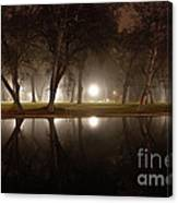 Dawn Mist Rising At Sycamore Pool  Canvas Print