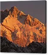 Dawn On Kangchenjunga Talung Canvas Print