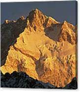 Dawn On Kangchenjunga Talung Face Canvas Print
