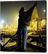 Dawn On The Ganges Canvas Print