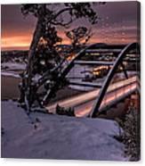 Dawn Over Snowy Austin Canvas Print