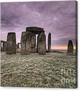 Dawn Over The Stones  Canvas Print