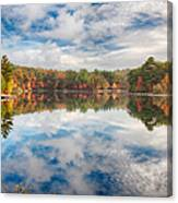 Dawn Reflection Of Fall Colors Canvas Print