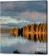 Dawn Reflections On Pelican Bay Canvas Print