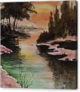 Dawn Snow On A Sunny Morning Canvas Print