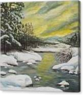 Dawning Of A Winter Day Canvas Print