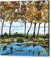Dawn's Blue Waters Edge  Canvas Print