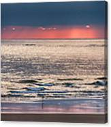 Dawns Red Sky Reflected Canvas Print