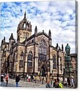 Day At The High Kirk Canvas Print