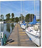 Sailboats On The Boardwalk Canvas Print