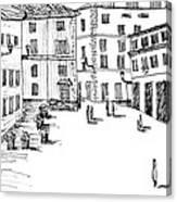 Day In Piazza Di Campitelli Canvas Print