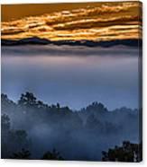 Daybreak Coming To The Smoky Mountains E150 Canvas Print