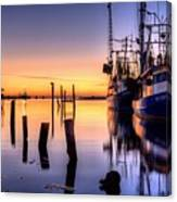 Daybreak On Pensacola Bay Canvas Print