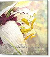 Daylily Photoart With Verse Canvas Print