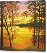 Day's End On Lake Talquin Canvas Print