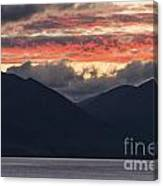 Days End On Lake Wakatipu Canvas Print