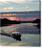 Day's End On The Sebec River Canvas Print
