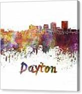 Dayton Skyline In Watercolor Canvas Print