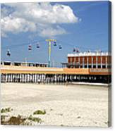 Daytona Beach Pier Pano Canvas Print