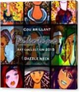 Dazzle Neck Art Collection Canvas Print