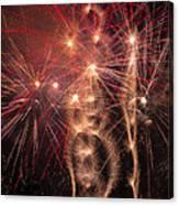 Dazzling Fireworks Canvas Print