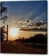 Dc Monument Sunset Canvas Print