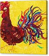 De Colores Rooster Canvas Print
