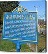 De-kc81 Site Of Duck Creek Presbyterian Church Canvas Print