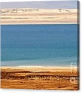 Dead Sea Shoreline In Jordan Canvas Print