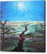 Dead Trees On The Moor Canvas Print