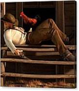 Deaf To The Rooster's Call Canvas Print