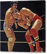 Dean Ho Vs Don Muraco In Old School Wrestling From The Cow Palace Canvas Print