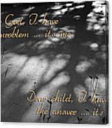Dear God Canvas Print