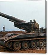 Death Dealer II  8 Inch Howitzer  At Lz Oasis Vietnam 1968 Canvas Print