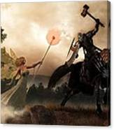 Death Knight And Fairy Queen Canvas Print