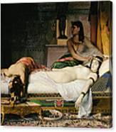 Death Of Cleopatra Canvas Print