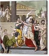 Death Of Virginia, Illustration Canvas Print