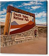 Death Valley Entry Canvas Print