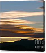 Death Valley Evening Sky Canvas Print