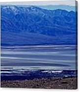 Death Valley National Park Overview Of Badwater Basin Canvas Print