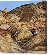 Death Valley Painted Mountains Canvas Print