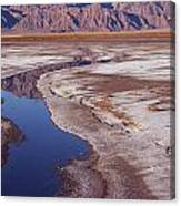 Death Valley Salt Stream 1-h Canvas Print