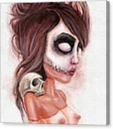 Deathlike Skull Impression Canvas Print