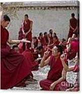 Debating Monks - Sera Monastery Lhasa Canvas Print