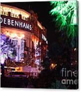 Debenhams Bournemouth At Christmas Canvas Print